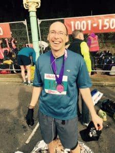 Joy after the Brighton Half Marathon